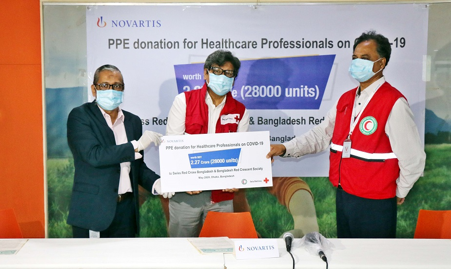 Novartis (Bangladesh) Limited donated PPEs to Healthcare Professionals to combat COVID-19