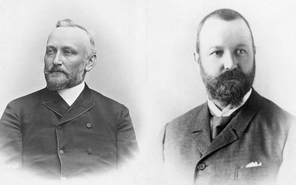 Early photographs of Dr. Alfred Kern (left) and Edouard Sandoz